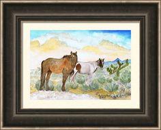 Two Desert Veterans Framed Print By Michele Ross