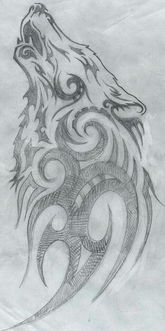 Wolf tattoo drawing More