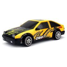 Drift King Retro Legend RC Race Car Yellow Black White Racing Fans Velocity Toy #VelocityToys