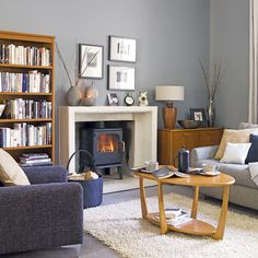 Grey and blue living room | Living rooms | Design ideas | Image | Housetohome
