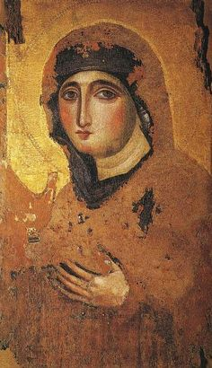 "The ""Advocata."" An icon of Mary said to be the oldest in Rome..."