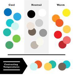 色の温度によるコントラスト