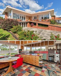 Since it was built in this house has only ever had three owners, and they have all been passionate about its Mid-century architecture and interior. 1970s Architecture, Mid Century Exterior, Mid Century Modern Kitchen, Southern House Plans, Retro Renovation, English House, Modern House Plans, Mid Century House, Mid Century Design