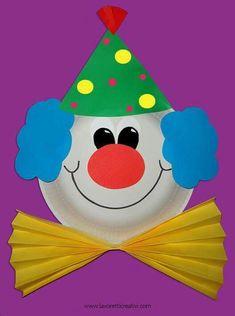 carterie, pergamano et tableaux - Page 21 clown van karton bord Kids Crafts, Clown Crafts, Carnival Crafts, Summer Crafts, Toddler Crafts, Preschool Crafts, Diy And Crafts, Paper Plate Crafts, Paper Plates