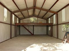 1000 images about barns and garages on pinterest shed for Metal building loft