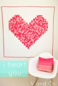 I want to make this so bad!! I guess I'll have to at least buy the pattern & order the fabric... :D   I heart you quilt at V