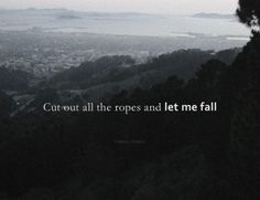 cut out all the ropes and let me fall // bon iver Story Inspiration, Writing Inspiration, Soul Songs, Skinny Love, Bon Iver, Music Lyrics, Lyric Art, Words To Describe, Lyric Quotes