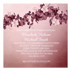 Vintage Floral Garden Wedding Invite