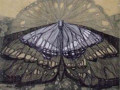 Butterfly intaglio print by Ambera Wellmann
