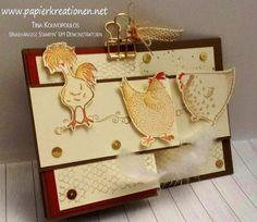 Die Hühner sind los! Z-Fold-Card zum Geburtstag mit Stampin' Up! Das Gelbe vom Ei (Hey Chick!)