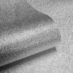 I Love Wallpaper™ Glamour Real Glitter Wallpaper Silver (GLAM352)