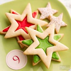 Browned butter in both the cookie dough and vanilla icing give these festive cookies a hint of nutty flavor.