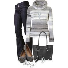 Silver and White Sweater