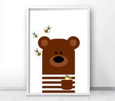 Bear Nursery Art Animal Nursery Print Kids Wall Art