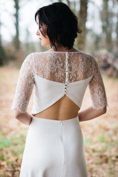cfc22a13559086 Laetitia Drouet, une créatrice à votre écoute - Kamélion Couture. robe de  mariée ...