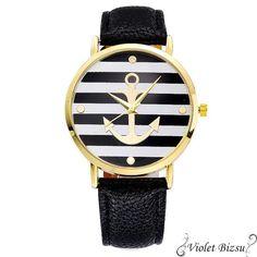 Newport Nautical Anchor Watch with Leather Strap Mens Watch Brands, Women's Dress Watches, Black White Fashion, Watch Sale, Quartz Watch, Fashion Watches, Watches For Men, Women Accessories, Style Fashion