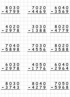 Math Practice Worksheets, Printable Math Worksheets, Kindergarten Math Worksheets, Teaching Math, Math Drills, Math Subtraction, Math Sheets, Math Words, Homeschool Math