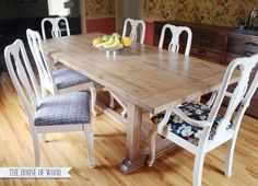 DIY Dining Table. Learn how to build your own DIY ZGallerie-inspired dining table.