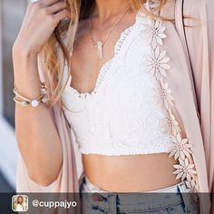 Major swoonage going on with this picture. Repost from @cuppajyo , Denim + lace + dainties , some of tomorrow's details . Full look will be up on the blog tomorrow! PC : @andrewdhphotos . #lalune #Fay #crystal #pendant #necklace