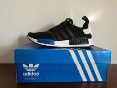 Adidas NMD R1 Nomad Runner Tokyo Black Blue White S79162 Boost Size US 7-10 New | eBay