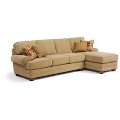 Flexsteel That's My Style <b>Customizable</b> 2 Piece Sectional Sofa with RAF Chaise