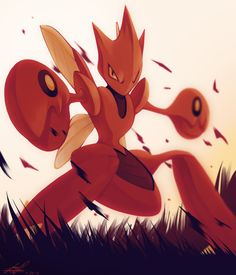 Day1 [BUG] Scizor by Rock-Bomber Type Pokemon, Pokemon Pins, Pokemon Go, Pokemon Pokedex, Lugia, Bug Type, Pokemon Special, Pokemon Pictures, Art Challenge