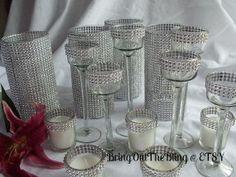 Decor Glass Vase Centerpiece Set  You Choose by BringOutTheBling, $156.50