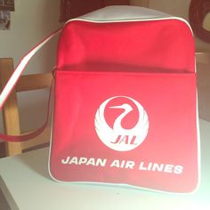 Vintage Japan Airlines Stewardess Bag Straight out of the 1960's and in mint condition! Perfect for luggage or to spice up an outfit with some retro vibes.  Shoulder bag that hangs just below the waste when worn. Vintage Bags Shoulder Bags