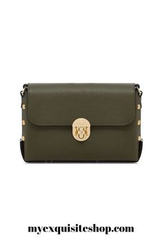 Roxy in olive green and Italian leather with stunning stud detailing Beautiful Bags, Italian Leather, Roxy, Olive Green, Crossbody Bag, Colours, Shoulder Bag, Handbags, Purses