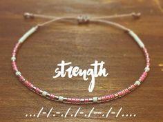 Strength Morse Code Bracelet - Best Friend Gift - Friendship Bracelet - Inspirational Bracelet - Best Friend Bracelet - beaded Bracelet
