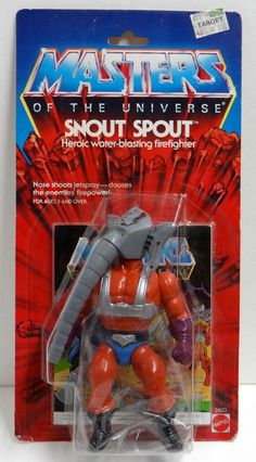 "Snout Spout, the ""heroic water-blasting firefighter,"" from the Masters of the Universe toys"