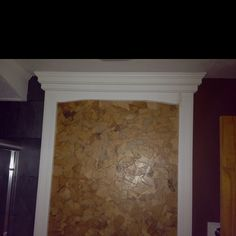 Faux leather wall with brown paper tear off pieces and decoupage to wall carolyn 39 s creations - Brown paper bag walls ...