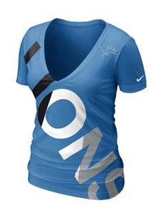 Nike Detroit Lions Ladies Tri-Blend Off Kilter Premium T-Shirt - Light Blue ee68b3201