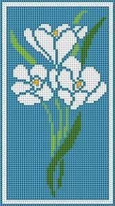 Resultado de imagem para cross stitch free blue flowers