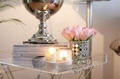 beautiful lucite tray