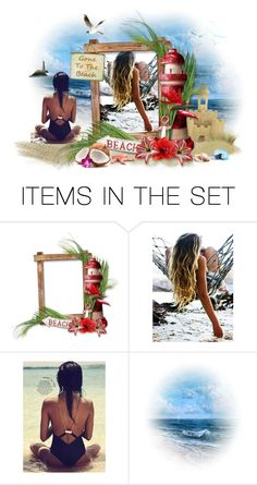 """Gone to the beach"" by elona-makavelli ❤ liked on Polyvore featuring art"