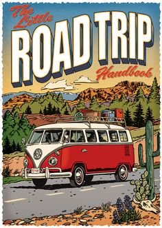 Volkswagen Bus Discover Road Trip: Tips For Traveling by Car with Kids John Kachik - Road Trip Handbook VW Camper Van cover Volkswagen Bus, Volkswagen Transporter, Volkswagen Beetles, Transporter 1, Carros Retro, Carros Vintage, Vw T3 Doka, T3 Vw, Vw Caravan