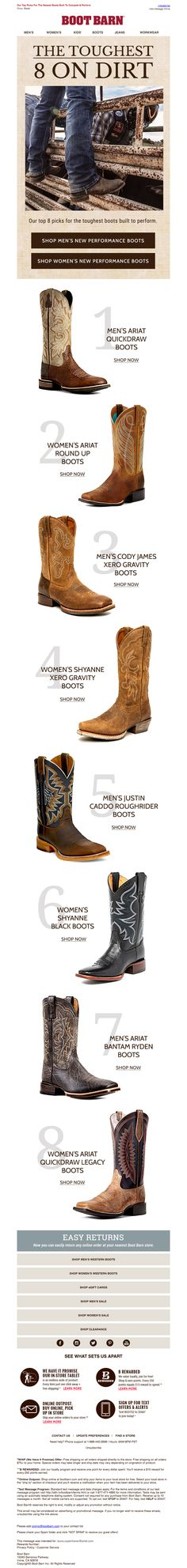 bootbarn6 Email Design Inspiration, Email Newsletters, Women, Woman