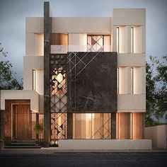 New House Facade Architecture Dream Homes Ideas Villa Design, Facade Design, Modern House Design, Exterior Design, Facade Architecture, Residential Architecture, Beautiful Architecture, Architect House, Architect Logo