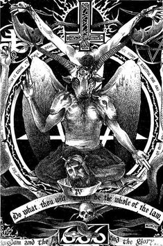 """""""And on day Satan made me. Occult Symbols, Occult Art, Arte Horror, Horror Art, Satanic Art, Evil Art, Aleister Crowley, Arte Obscura, Dark Pictures"""