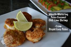 (Try with chicken) Mouth-Watering Paleo Coconut Chili Lime Shrimp! Fish Recipes, Seafood Recipes, Paleo Recipes, Cooking Recipes, Cooking Ideas, Paleo On The Go, How To Eat Paleo, Going Paleo, Stupid Easy Paleo