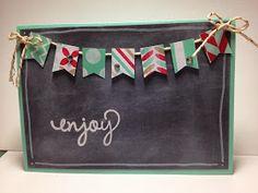 Linda Higgins: Fresh Prints Chalkboard Banner card