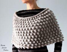 E-Book Häkelanleitung Noppen Poncho von Beauty Crochet Pattern auf DaWanda.com