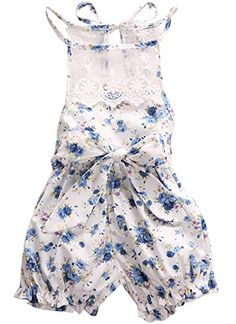 c260e4ce1597 Newborn Baby Girl Bodysuit Lace Floral Romper Jumpsuit Outfits Backless  Clothes 612 Months Floral Blue  gt