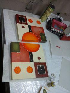 . Acrylic Wall Art, Canvas Wall Art, Diy Wall Art, Diy Art, 3 Canvas Paintings, Tableau Design, Glue Art, Coffee Painting, Texture Painting