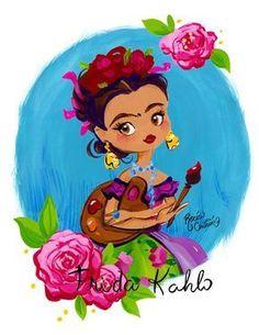 Rocío Cintrón: Frida #OilPaintingGirl