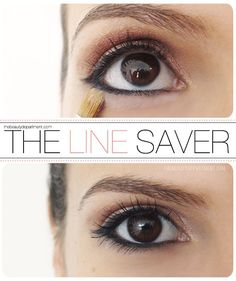 Trick to keep your liner in place!! #eyeliner
