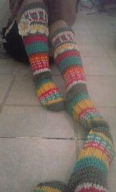 Crocheted sock pattern