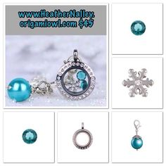 Winter Locket Idea by Origami Owl! Contact me to get yours! www.HeatherNalley.origamiowl.com