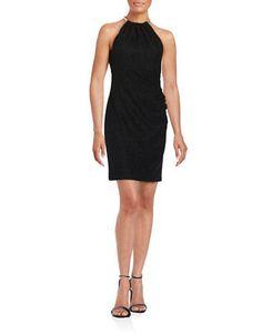 Eliza J Textured Halter Dress Women's Black 8